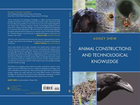Blue book dust jacket - Animal Constructions and Technological Knowledge by Ashley Shew
