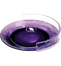 purple glass plate with a plate shield on one side
