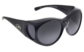 black pair of sun glasses