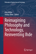 Red and blue cover image of Reimagining Philosophy and Technology, Reinventing Ihde